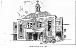 Monument Road Baths Sketch